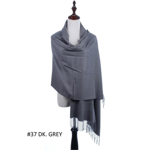 BYOS Versatile Oversized Soft Cashmere Shawl Scarf Travel Wrap Blanket W/ Tassels, Many Colors