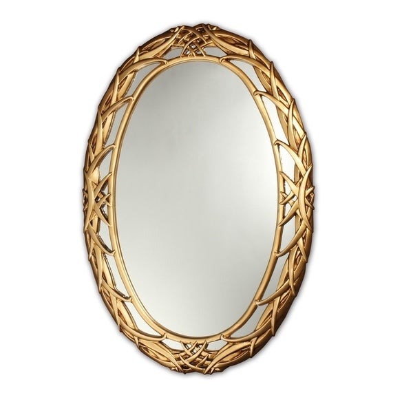 f1ba646f5 Shop Chloe Antique Gold Oval Mirror - Antique Gold - On Sale - Ships ...