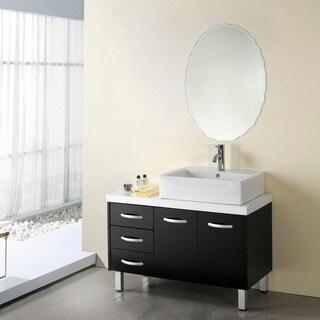 Chloe Oval Frameless Mirror - Silver - N/A