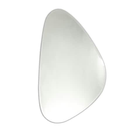 Chloe Oval Frameless Mirror - Silver