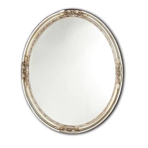 Chloe Antique Silver Oval Mirror