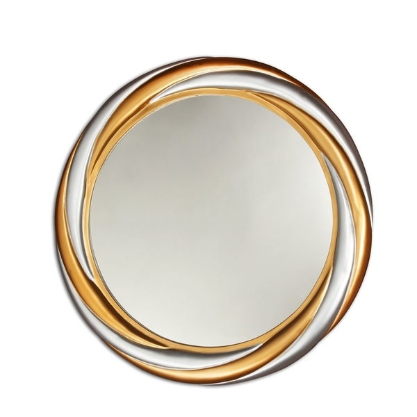 Shop Chloe Gold Silver Round Mirror Silver Gold On Sale Free