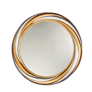 Chloe Gold/Silver Round Mirror - Silver/Gold
