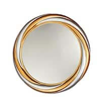 Chloe Gold/Silver Round Mirror - Silver/Gold - N/A