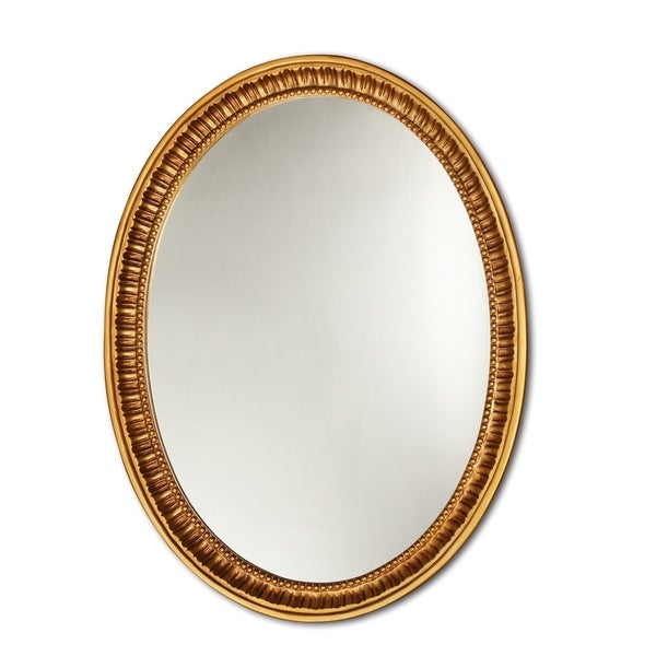 Chloe Antique Gold Oval Mirror - Antique Gold