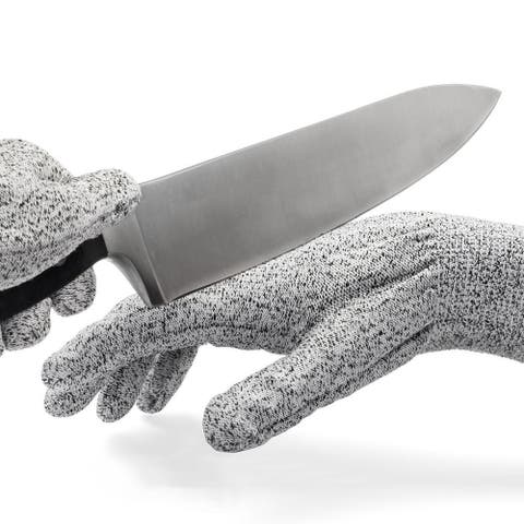 BooBooNoMore Kevlar No Cut Kitchen Gloves - Machine-Washable - High-Grade Polyethene - Lightweight - Kitchen, Grey