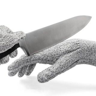 BooBooNoMore Kevlar No Cut Kitchen Gloves - Machine-Washable - High-Grade Polyethene  - Lightweight - Kitchen, Grey - Large