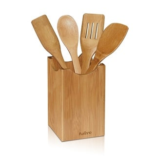Furinno DaPur Bamboo Kitchen Utensil with Holder FK8751