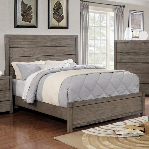 Shop Furniture Of America Drue Rustic Grey King Size Plank