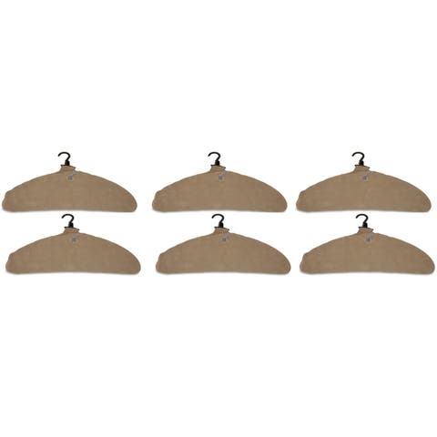 Quick Dry Inflatable Laundry Hangers, Large, Tan - Pack of 6