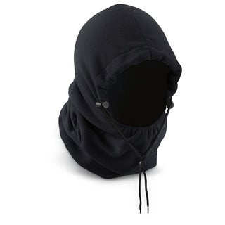 Polar Fleece Hood - Winter Hat - Black