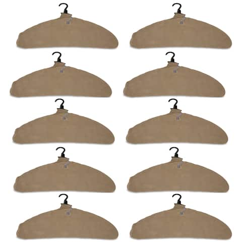 Quick Dry Inflatable Laundry Hangers, Large, Tan - Pack of 10