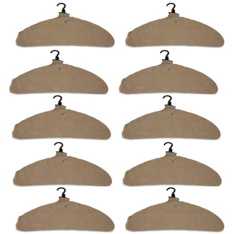Quick Dry Inflatable Laundry Hangers, Large, Tan - Pack of 10 - Large