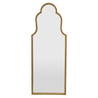 Three Hands Gold-finished Metal Wall Mirror