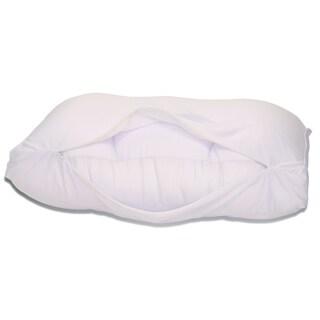 "White Medium Cover For Microbead Cloud Pillow (20"" x 13.5"" x 5"")"
