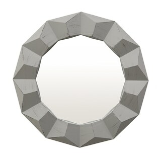 Three Hands Grey Round Wall Mirror