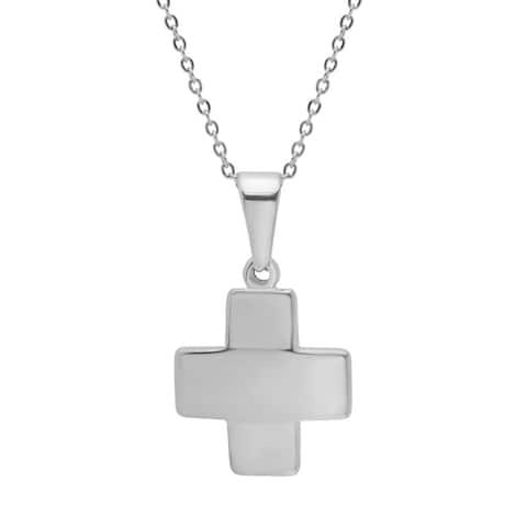 Piatella Ladies Stainless Steel Cross Pendant in 3 Colors