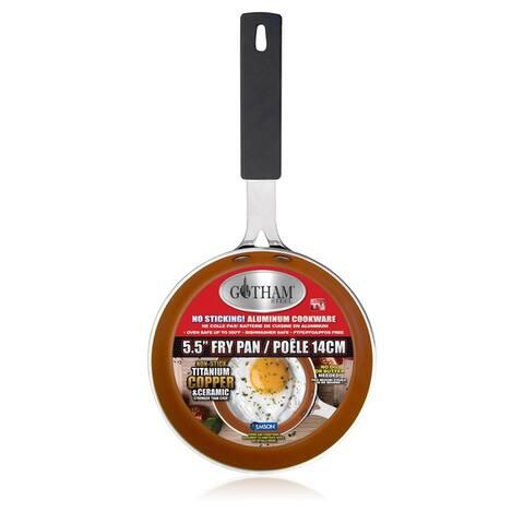 "Gotham Steel 5.5"" Mini Egg Pan Nonstick Copper"