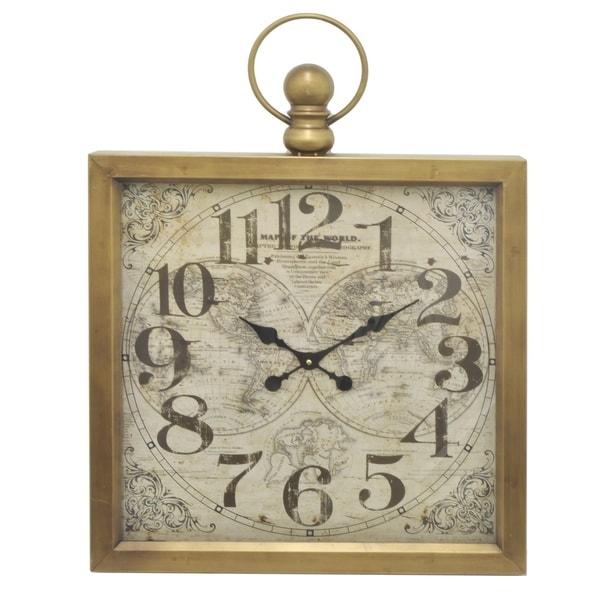 Three Hands Metal Frame Wall Clock