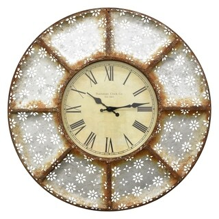 Three Hands Metal Wall Clock