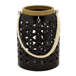 Three Hands Black Ceramic Lantern