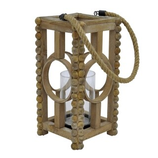Three Hands Brown Wood Lantern