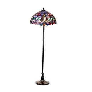 Floor lamp tiffany style lighting for less overstock chloe tiffany style victorian design 2 light dark antique bronze floor lamp audiocablefo