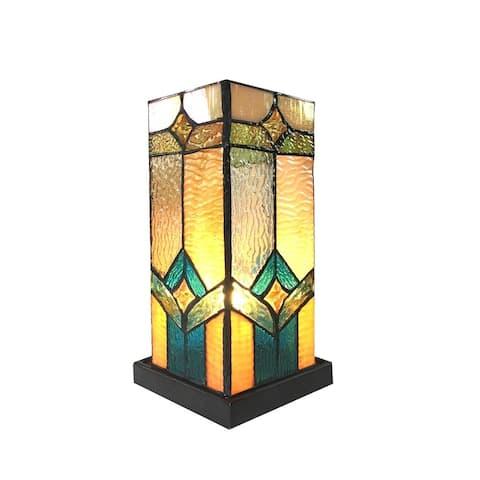 Tiffany-Style 2-light Dark Bronze Table Lamp