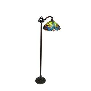 Chloe Tiffany Style Victorian Design 1-light Dark Antique Bronze Floor Lamp