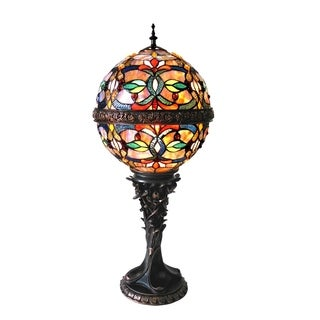 Chloe Tiffany Style 2-light Dark Antique Bronze Table Lamp