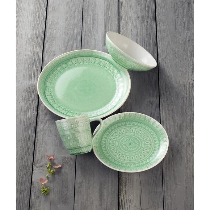 Euro-Ceramica-Fez-16-piece-Crackle-glaze-Dinnerware-  sc 1 st  eBay & Euro Ceramica Fez 16-piece Crackle-glaze Dinnerware Set (Service for ...