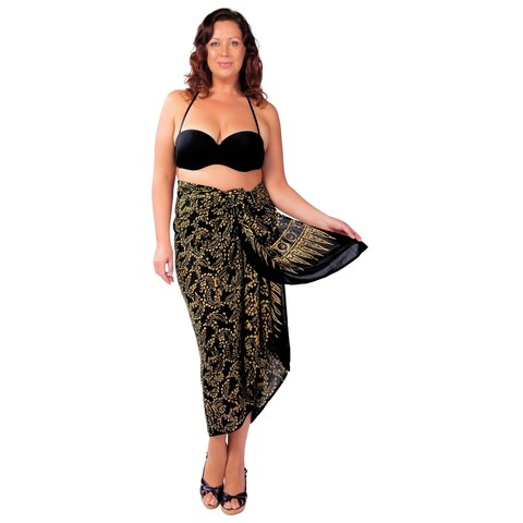Plus Size Abstract Floral Sarong