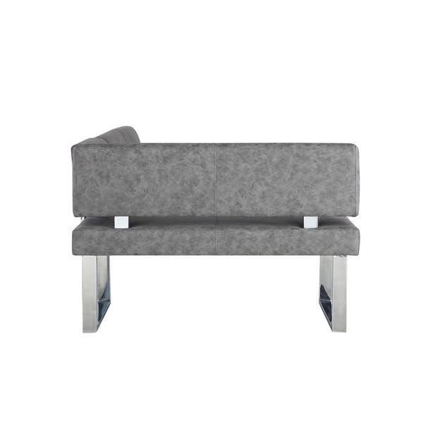 Awesome Shop Somette Gene Dark Grey Reversible Dining Nook Free Machost Co Dining Chair Design Ideas Machostcouk