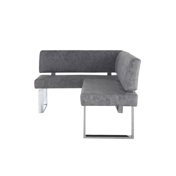 Groovy Shop Somette Gene Dark Grey Reversible Dining Nook Free Machost Co Dining Chair Design Ideas Machostcouk