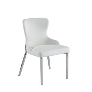 Link to Somette Ema White Wing Back Side Chair (Set of 2) Similar Items in Dining Room & Bar Furniture