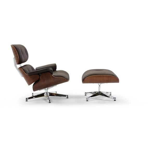 Astonishing Shop Pasargad Home Florence Leather Lounge Chair Brown On Caraccident5 Cool Chair Designs And Ideas Caraccident5Info