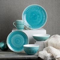 Euro Ceramica Fez 20-piece Crackle-glaze Dinnerware Sets (Service for 4)