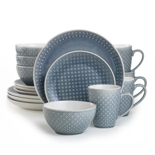 Euro Ceramica Palma 16-piece Crackle-glaze Dinnerware Set (Service for 4)