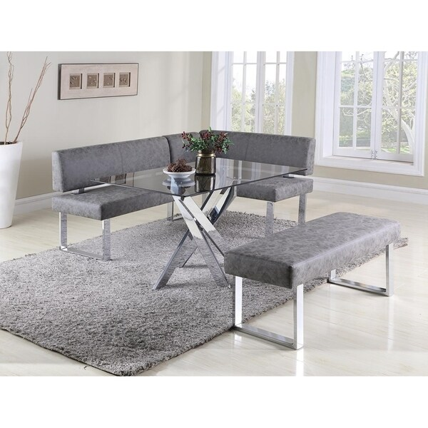 Somette Gene Table, Nook and Bench Dining Set