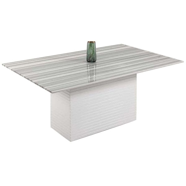 Shop Somette Bianca Marble Top Dining Table With White Box Table