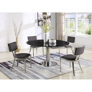 Somette Bruna Black Marble Motion Dining Table