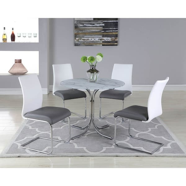 Somette Dolores Round Gl Top Dining Table