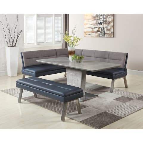 Somette Janice Two-Tone Nook and Table Dining Set
