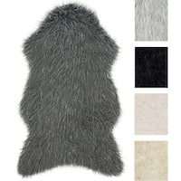 Rustic Faux Fur Shaped Tundra Shag Rug - 2'6 x 4'2