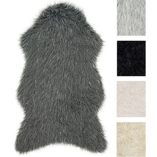 Rustic Faux Fur Shaped Tundra Shag Rug - 2'6 x 4'2 (5 options available)