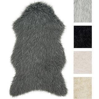 Rustic Faux Fur Shaped Tundra Shag Rug
