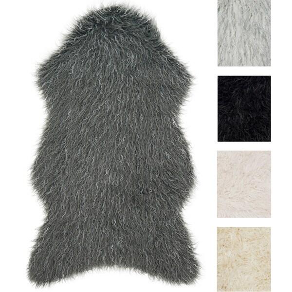 Shop Rustic Faux Fur Shaped Curly Hair Shag Rug 2 X 3