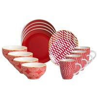 Euro Ceramica Simpatico 16-piece Dinnerware Set (Service for 4)