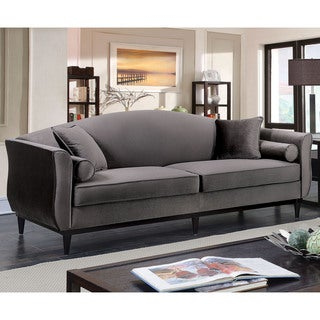 companies wellington leather furniture promote american. Furniture Of America Lisbel Contemporary Dark Grey Flannelette Sofa Companies Wellington Leather Promote American