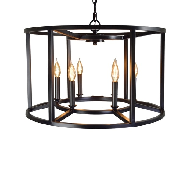 Shop y decor cage drum candle style chandelier free shipping today y decor cage drum candle style chandelier aloadofball Gallery